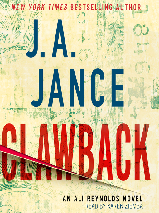 Title details for Clawback by J.A. Jance - Wait list